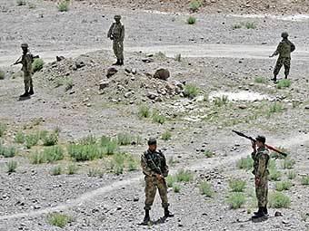 Пакистанские военные в Южном Вазиристане