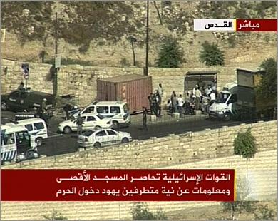 Израильские формирования блокировали мечеть Аль-Акса