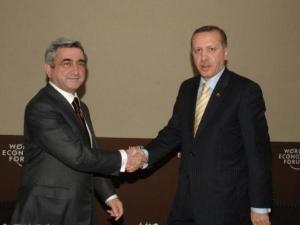 Президент Армении Серж Саргсян и премьер-министр Турции Реджеп Эрдоган