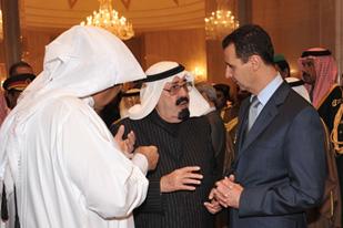 Король Абдалла и президент Башар Асад