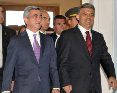 Президенты Турции и Армении