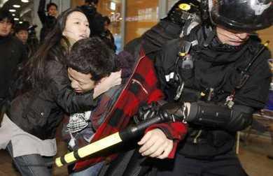 Обаму в Южной Корее встретили протестами