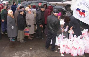 """Активисты Ассоциации """"Собрание"""" раздают жертвенное мясо"""
