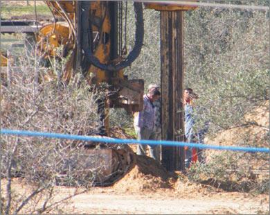 Строительство стальной стены на палестино-египетской границе