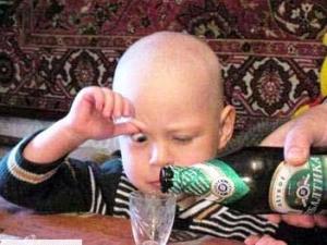 В России растет число детей-алкоголиков