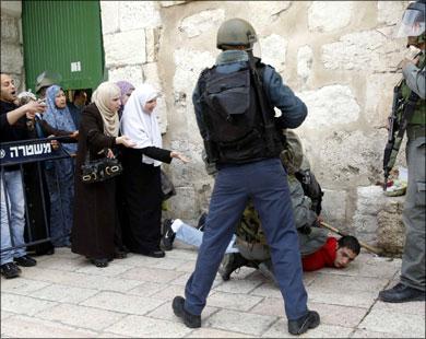 Жертва насилия израильской полиции