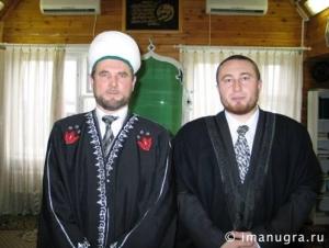 Сопредседатель ЦДУМ Тахир Саматов с имамом мечети г. Нижневартовска Маратом Гильфановым