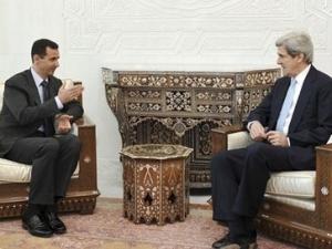 Джим Керри на встрече с Башаром Ассадом
