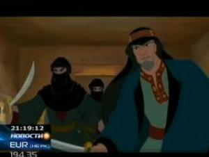 Курайшиты покушаются на Пророка. Кадр из мультфильма
