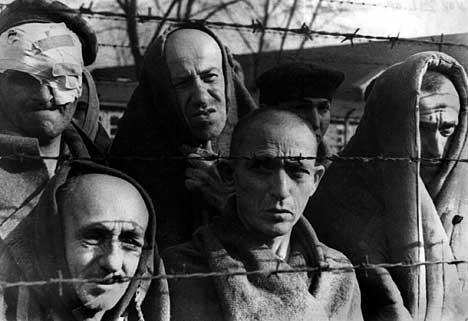 Узники фашистского концлагеря
