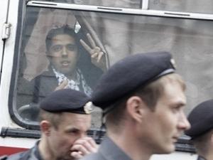 Митинг в Москве: израильское посольство охраняли два автобуса ОМОН