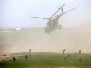 Военный вертолёт в Афганистане возможно сбили талибы