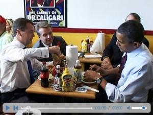 Обама накормил Медведева нездоровой пищей