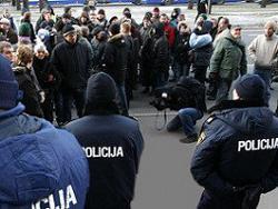 Рижская полиция сорвала шествие националистов