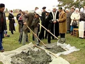 Закладка первого камня  в Арамиле