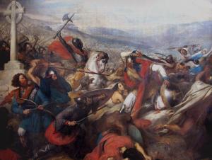 Битва при Пуатье по версии немецкого художника Карла Штейбена