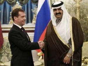 Медведев обсудил с эмиром Катара двустороннее экономическое сотрудничество