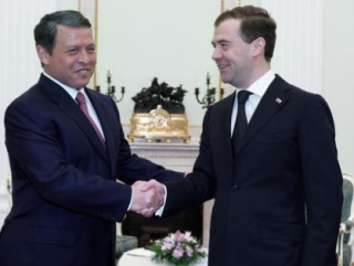 Медведев и Путин встретятся с королем Иордании
