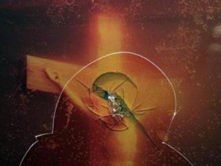 Кощунственную фотографию разбили в музее молотком