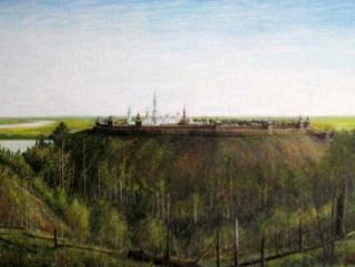 картина «Искер, столица Сибирского ханства» Хасана и Хусаина Арангуловых