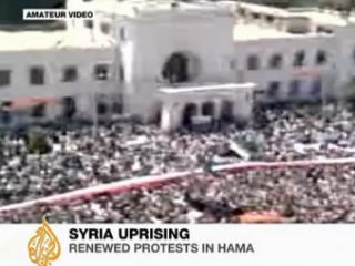В сирийской Хаме 450 тысяч человек вышли на манифестацию