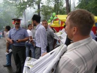 """Мусульман на  """"Сабантуе"""" препроводили в полицейскую управу"""