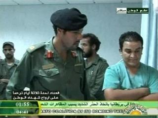 Ливийское ТВ опровергло смерть сына Каддафи