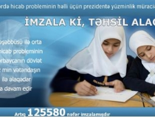 В Азербайджане собрано 124 тысячи подписей в защиту хиджаба