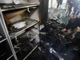 Еврейские поселенцы сожгли мечеть на севере Палестины