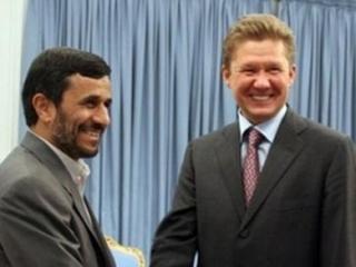 "Президент Ирана Махмуд Ахмадинежад и глава ""Газпрома"" Алексей Миллер"