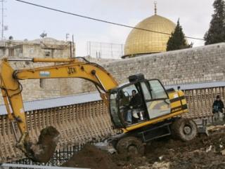 Еврейское стройка в Аль-Кудсе