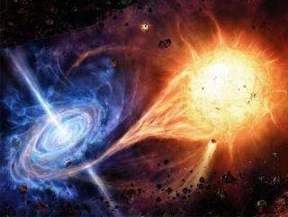 Астрофизики США показали, что изучения двойных систем, образованных чёрной дырой и пульсаром, дают возможность оценивать параметры моделей, в которых вводится дополнительное пространственное измерение
