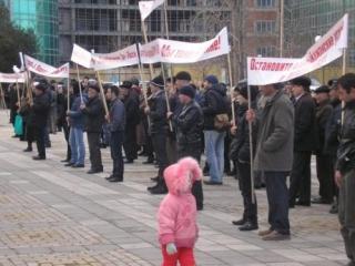 Жители российского анклава Азербайджана митингуют