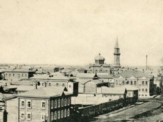 Вид на дореволюционную татаро-бухарскую слободу г.Томска