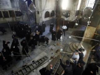 Священники подрались в церкви Рождества в Вифлееме