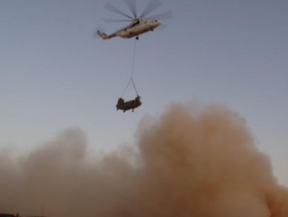 В Афганистане сбит вертолёт советского производства