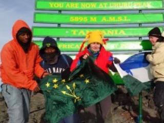 Кабардино-Балкарский флаг подняли над Килиманджаро