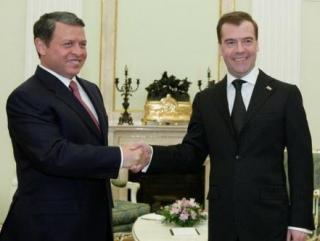 Медведев поздравил короля Иордании с юбилеем