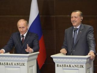 Турция. Владимир Путин и Реджеп Эрдоган на совместной пресс-конференции