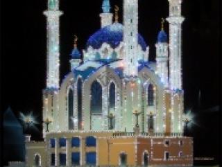 Мечеть Кул Шариф, инхрустированная кристаллами Сваровски