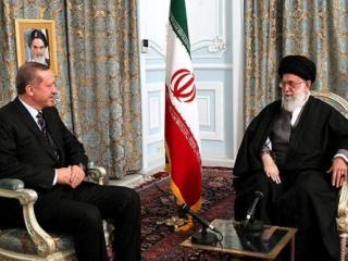 Встреча аятоллы Али Хаменеи и премьер-министра Турции Реджепа Тайипа Эрдогана в Мешхеде