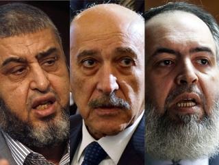 Выбывшие из списка кандидаты в президенты Египта:  Хайрат аш-Шатыр,  Умар Сулейман и Хазем Абу Исмаил