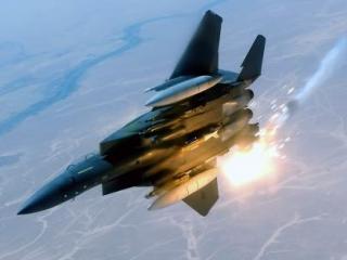 Американский истребитель разбился на Ближнем Востоке