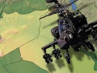 В Сирии военный вертолет, падая задел пассажирский самолет