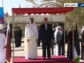 Эмир Катара Хамад бин Халифа ас-Сани и премьер-министр Газы Исмаил Хания