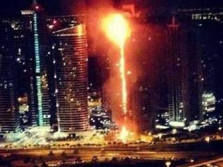 В Дубае сгорел элитный небоскреб