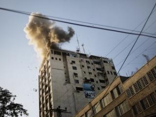 Израильская авиация разбомбила офис российского телеканала