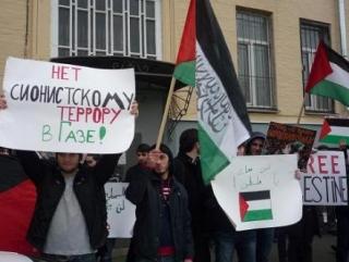 В Москве прошел пикет против израильского террора