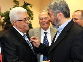 Махмуд Аббас и Халед Машааль