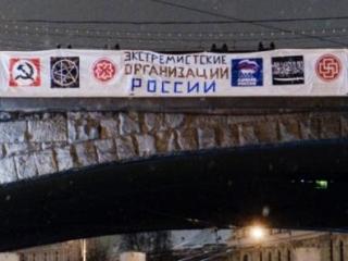 Неизвестные вывесили экстремистский плакат напротив Кремля